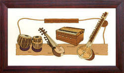 Raw Wood Natural Wood Wood Wall Hanging - Indian Music