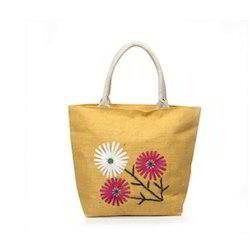 Jute Embroidery Fancy Bag