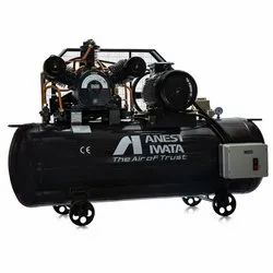 Anest Iwata 15 HP Air Cooled Reciprocating High Pressure Air Compressor