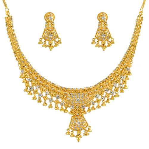 necklace american set buy jewellery cz jewels chain ratnavali dp designer plated diamond with gold c