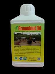 Organic Groundnut Oil Wooden Cold Pressed Unrefined