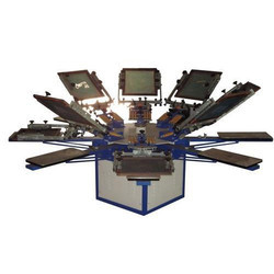 8 Color Manual Screen Printing Machines
