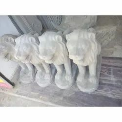 Grey Cement Lion, Size/Dimension: 2.5x2 Feet, for Interior Decor