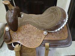 Black, Brown Leather Western Saddles, Seat Sizes: 16