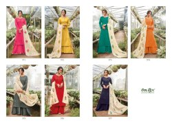 Omtex Selinta A Line Cotton Satin Designer Dress Material Collection