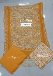 Bheravghad Hand Block Printed Wax Batik Dress Material