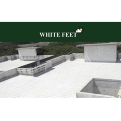 White Feet Ceramic Roof Tile