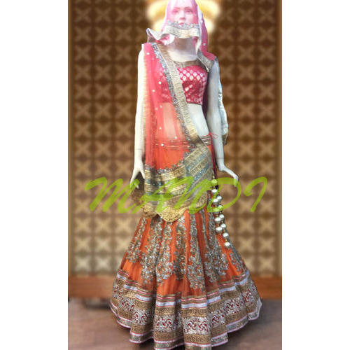 53dd0812b6 Mandi Half Sleeves Bridal Wear Lehenga Choli, Rs 45000 /piece | ID ...