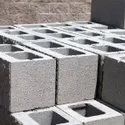 Solid Rectangular Gray Concrete Brick, For Partition Walls