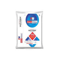 50 kg Euro White Decorative White Cement, Packaging: PP Bag