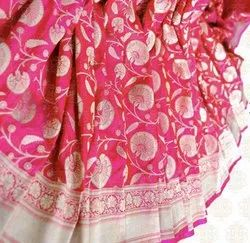 Festive Wear Ladies Handloom Kataan Silk Saree, With Blouse Piece