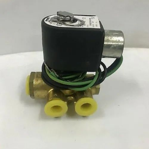 """1/"""" Electric Solenoid Valve Brass 110//120V VAC Water Air Gas Normal Closed NPT"""
