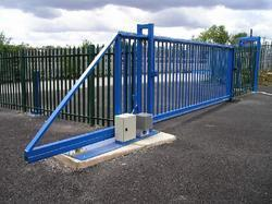 Mild Steel Kavach Automatic Sliding Gate for Industrial