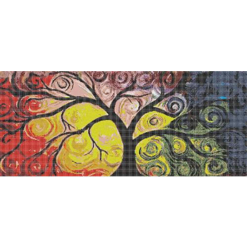 Tree Pattern Mural Mosaic Tile