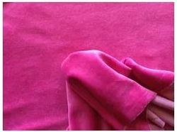 Pink Knitted Cotton Velour Fabric