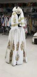 Hand Block Printed Cotton Designer Long Skirt