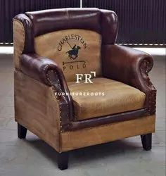 Resort Wingback Chairs in Vintage Tub Design for Hotels and Resorts