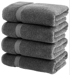 Grey Cotton Bathroom Towel