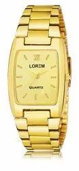 LOREM Men Golden Watch, For Personal Use, Model Name/Number: LR109