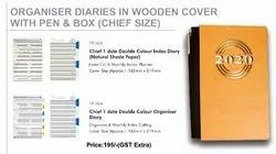 Diary in wooden cover