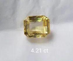 Mixed Cut Astrology Yellow Sapphire, 4.21 Ct, Carat: 4.21 Ct
