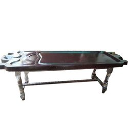 FRP Super Massage Table With Wooden Stand