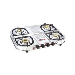 Stainless Steel 4 LPG Gas Stove for Kitchen