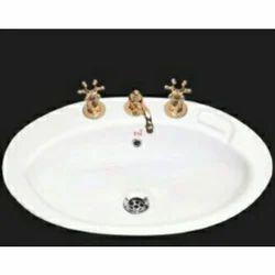 Wall Mounted Ceramic Counter Wash Basin