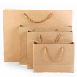 Brown Recycled Horizontal Paper Bags
