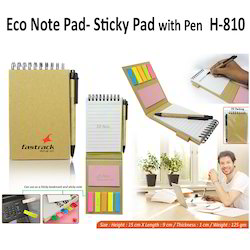 Eco Note Pad- Sticky Pad With Pen h-810