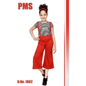 Red And Black Casual Wear Girls Western Dress