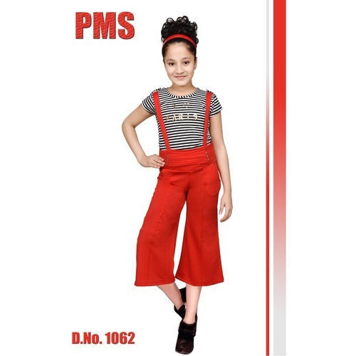 ecbeb38e8ed Red And Black Casual Wear Girls Western Dress