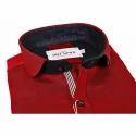 Linen Casual Mens Red Shirt