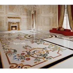 Italian Marble Inlay Flooring