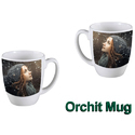 Ceramic Orchit Mug Sublimaiton, For Home And Office