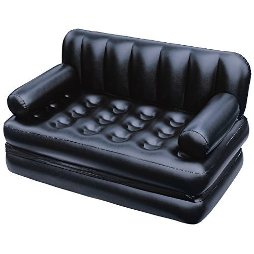 Leather Black Air Sofa Bed Rs 8000