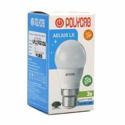Polycab aelius lx b22 3w led bulb, 3 W