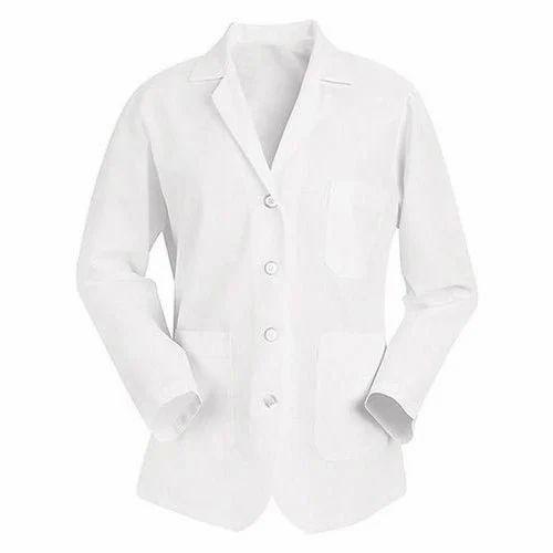 White Collar Neck Medical Doctor Apron