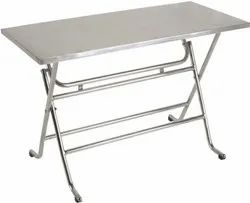 AURA STEEL SS TABLE, For Hotel, Size: 21'' X 45''