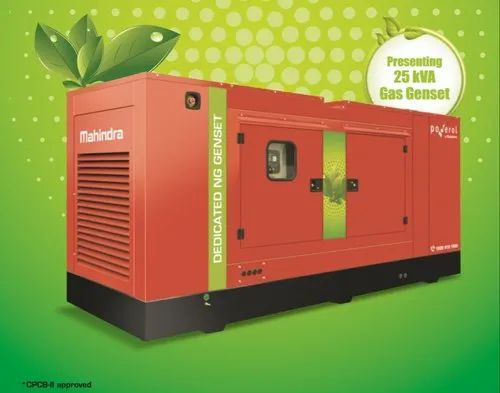 25 Kva Mahindra Silent Power Gas DG Set for Commercial