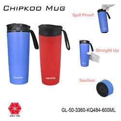 Steel Insulated Vacuum Suction Spill Free Traveling Mugs & Tumbler-600ml-GL-50