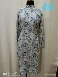 Regular Casual Wear Ladies Free Size Long Kurti, Size: Xl