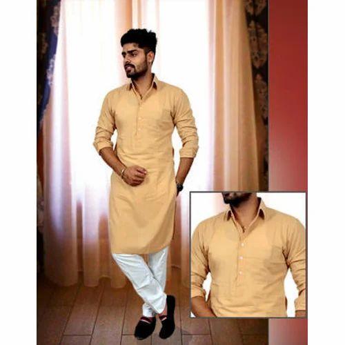 01f9c7ff16 Cotton Casual Wear Mens Full Sleeve Kurta Pajama, Rs 1200 /piece ...