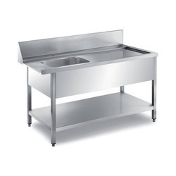 SS Dish Wash Entry Table