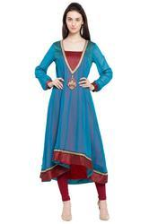 Fashionable Embroidered Floral Kurti