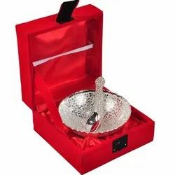Silver Plated Single Bowl 3.5 inch with Spoon