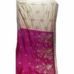 Ladies Party Wear Georgette Saree, 5.5 M (separate Blouse Piece) , packaging Type: Packet