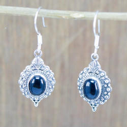 925 Sterling Silver Jewelry Black Onyx Gemstone Fashion Earring