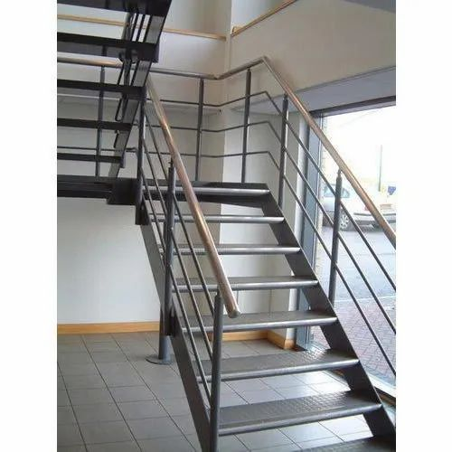 Ms Staircase Railing Metal - Mild Steel Staircase Service ...