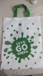 White Cotton Eco-Friendly Reusable Cloth Bags
